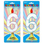 96 Units of Number Six Led Candle - Birthday Candles