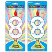 288 Units of Number Eight Led Candle - Birthday Candles