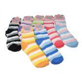 144 Units of Winter Super Soft Warm Women Soft & Cozy Fuzzy Socks - Size 9-11 - Womens Fuzzy Socks