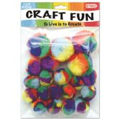 144 Units of Twenty Count Pom Pom - Craft Stems