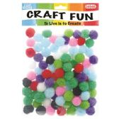 144 Units of Fuzzy Ball One Hundred Pack - Craft Stems