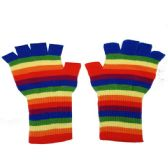 24 Units of ADULT RAINBOW FINGERLESS GLOVE - Winter Gloves