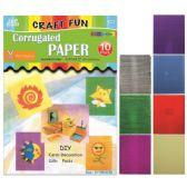 96 Units of Corrugated Paper Crafts - Foam & Felt