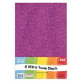 96 Units of Eva Glitter Sheet Purple Foam - Foam & Felt