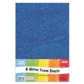 96 Units of Eva Glitter Sheet Blue Foam - Foam & Felt