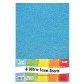 96 Units of Eva Glitter Sheet Sky Blue Foam - Foam & Felt