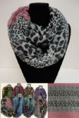 12 Units of Extra-Wide Light Weight Infinity Scarf [Mixed Animal Print] - Womens Fashion Scarves