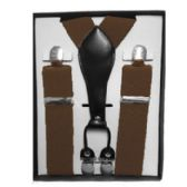 12 Units of Solid Brown Suspenders - Suspenders