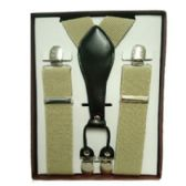 12 Units of Solid Khaki Suspenders - Suspenders