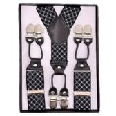 12 Units of Pattern Suspenders Black & White - Suspenders