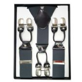 12 Units of Solid Suspenders Gray - Suspenders
