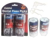 96 Units of Gently &Easily Clean Between Teeth DENTAL FLOSS PICKS 60PC - Toothbrushes and Toothpaste