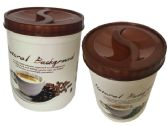 72 Units of Round Plastic Printed Resuable Food Storage Containers with Lids. - Food Storage Bags & Containers