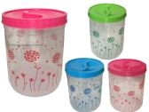 24 Units of Large Capacity printed 3 pcs set Containers for Kitchen and Pantry Storage for Cereal, Flour, Cooking - Food Storage Bags & Containers