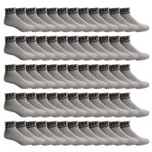 60 Pairs of SOCKS'NBULK USA Cotton Sport Athletic Ankle Socks, Sport Sweat Socks USA Themed (Gray, 10-13) - Mens Ankle Sock