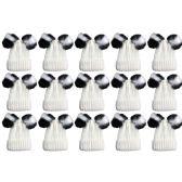 "Yacht & Smith 15 Pack Womens Pom Pom Beanie Hat, Winter Cable Knit Hat, Warm Cap, 3"" Poms (Double Pom Pom Cream Mix) - Fashion Winter Hats"