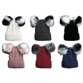 12 Units of 12 Units of SOCKSNBULK Mens Womens Warm Winter Hats in Assorted Colors, Mens Womens Unisex (6 Pack Assorted) - Fashion Winter Hats