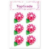 144 Units of Satin Flower Pink - Artificial Flowers