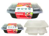 24 Units of 2 Sections Food Containers [2Pack] - Food Storage Bags & Containers