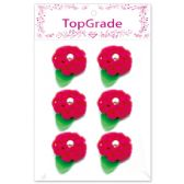 144 Units of Satin Flower Rose Red - Artificial Flowers