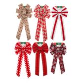 72 Units of Assorted Christmas Bows - Christmas Decorations