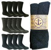 120 Units of Mens Size 10-13 Warm Thermal Socks Assorted Dark Colors - Mens Thermal Sock