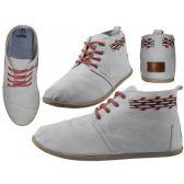 24 Units of Women's Hi-Top Canvas Shoes ( *White Color ) - Women's Sneakers