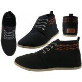 24 Units of Women's Hi-Top Canvas Shoes ( *Black Color ) - Women's Sneakers