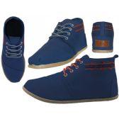 24 Units of Women's Hi-Top Canvas Shoes ( *Navy Color ) - Women's Sneakers