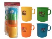 "48 Units of CUPS W/ HANDLE 4PC 4ASST CLR 3.1"" - Cups"