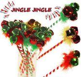 120 Units of Jingle Bell Pens - Christmas Novelties