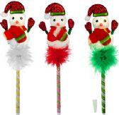 120 Units of Christmas Snowman Pens - Christmas Novelties