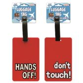 144 Units of Luggage tag Hands Off Dont Touch - Travel & Luggage Items