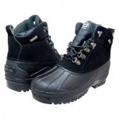 12 Units of Mens Warm Waterproof Winter Snow Boot In Black - Men's Work Boots