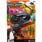 108 Units of CLICKING TOY GUN WITH MASK ON BLISTER CARD - Toy Weapons