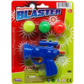 144 Units of PING PONG TOY GUN PLAY SET ON BLISTER CARD - Toy Weapons