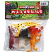 72 Units of WILD ANIMALS IN PVC BAG WITH HEADER CARD - Animals & Reptiles