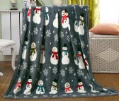 24 Units of Assorted Holiday Printed Blankets Size 50 x 60 - Fleece & Sherpa Blankets