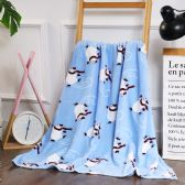 24 Units of Skating Polar Bear Printed Fleece Blankets Size 50 x 60 - Fleece & Sherpa Blankets