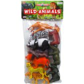 24 Units of WILD TOY ANIMALS SET IN PVC BAG - Animals & Reptiles