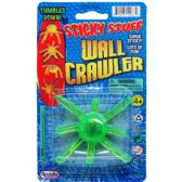 144 Units of STICKY WALL CRAWLER ON BLISTER CARD - Novelty Toys