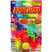 72 Units of COLORED JUMBO JACKS PLAYSET IN BLISTER CARD - Light Up Toys