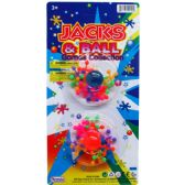 72 Units of JACKS WITH TWO PIECE RUBBER BALLS ON BLISTER CARD - Light Up Toys