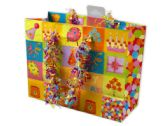 144 Units of Small Happy Birthday Giftbag with Confetti Handles - Gift Bags