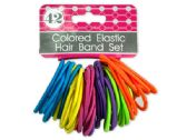 72 Units of Colored Elastic Hair Bands Set - Hair Scrunchies