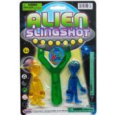 108 Units of ALIENS WITH SLINGSHOT ON BLISTER CARD - Magic & Joke Toys