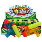72 Units of CLEAR WATER GUN DISPLAY BOX - Water Guns