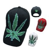 36 Units of Large Marijuana Leaf Hat - Baseball Caps & Snap Backs