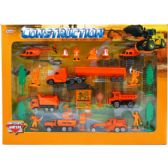 12 Units of DIECAST CONSTRUCTION PLAY SET IN WINDOW BOX - Cars, Planes, Trains & Bikes