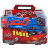 24 Units of SOFT DART TOY GUN IN PEGABLE CLAMSHELL - Toy Weapons
